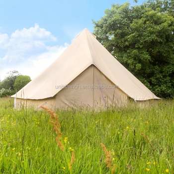 Family C&ing Cotton Canvas Bell Tent with Chimney Hole canvas c&ing tent for sale & Family Camping Cotton Canvas Bell Tent With Chimney Hole Canvas ...