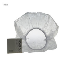 Independent packaging hair bun cover customized hotel shower cap