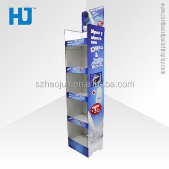 Portable Iklan Display Counter Untuk Biskuit Promosi Rak Barang