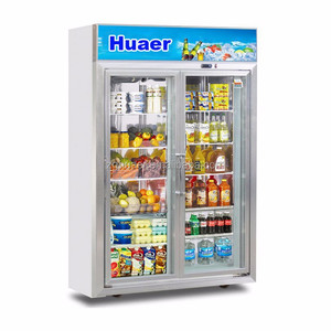 Upright Energy drink display fridge/Supermarket refrigeration equipment/transparent glass door refrigerator