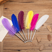 Cheap Fashional Promotional Quill Pen For Gift Luxury Feather Ball Pen