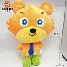 High quality Wholesale china hand made craft factory supply 31cm soft stuffed tiger animal baby toy doll plush toys for gift