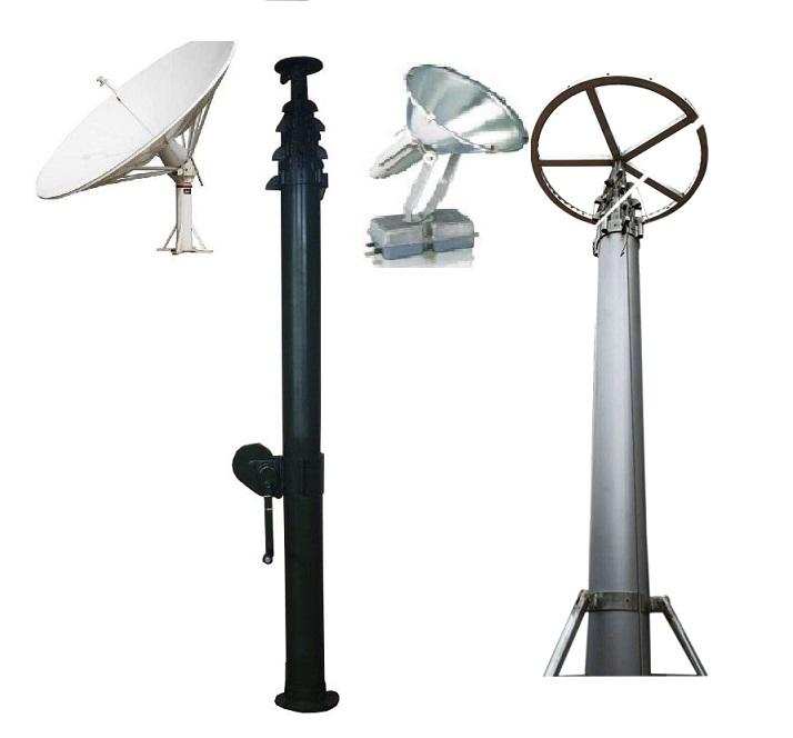 18feet 60feet Mobile Antenna Telescoping Mast And High Lighting Mast And  Mobile Light Tower - Buy Mobile Antenna Telescoping Mast,High Lighting