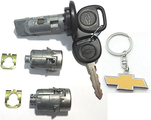 706592 Select GM OEM Single CHROME Door Lock Cylinder W//2 OEM GM LOGO KEYS 5928818