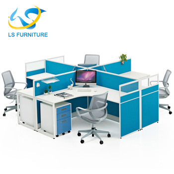 2017 Office K Workstation With Wooden Types Of Partition Walls ...