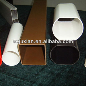 hollow plastic profile PVC/PC/ABS/PP/HDPE/PMMA rigid extrude tubing