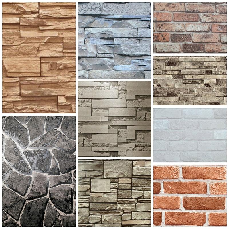 Vinyl Wall Decorative 3d Brick Design Wallpaper Buy