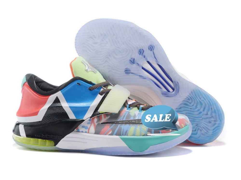 Get Quotations � 2015 Free shipping cheap top quality kd VII Yin and Yang  basketball shoes sneakers athletic shoes