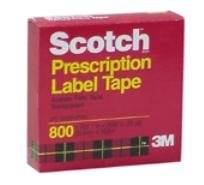 Scotch Prescription Label Tape, 1 Roll 1 in X 2592 in (72 Yd)