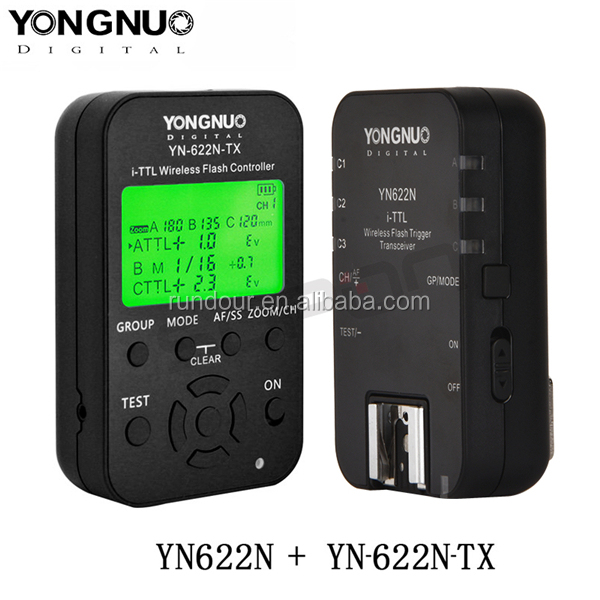 Yongnuo YN622N-TX +2PCS YN-622N TTL flash trigger with 2 cables for Nikon Yongnuo YN622N-TX Wireless Flash Trigger Transceiver