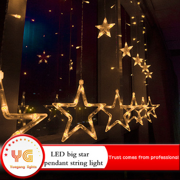 2018 outdoor halloween decoration multi color led christmas star string lights