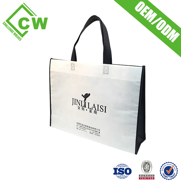 Wholesale resuable laminated non woven foldable shopping bag for Woman