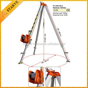 Emergency Heavy Duty Lift Rescue Tripod