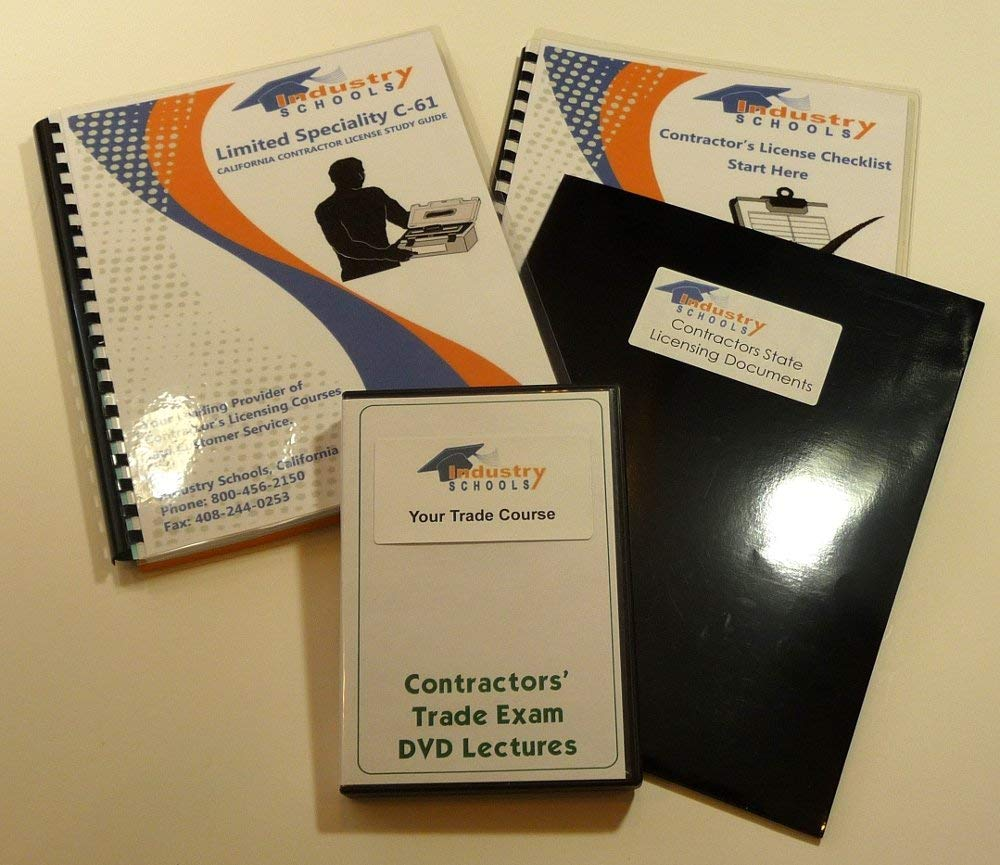 KIT D09 - DRILLING BLASTING AND OIL FIELD WORK for California w/LAW & BUSINESS & Online Practice Exams, Instructors on DVDs