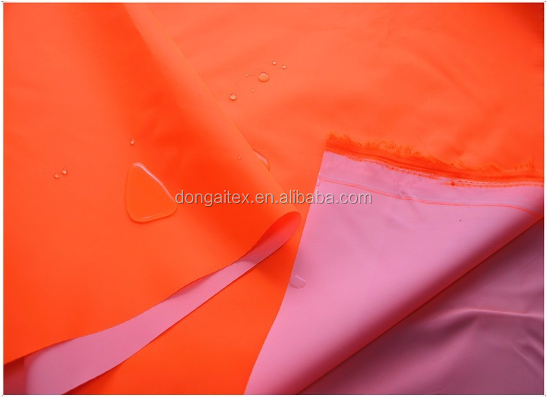 300D fluorescent polyester oxford fabric for police uniform/pu coated waterproof fabric