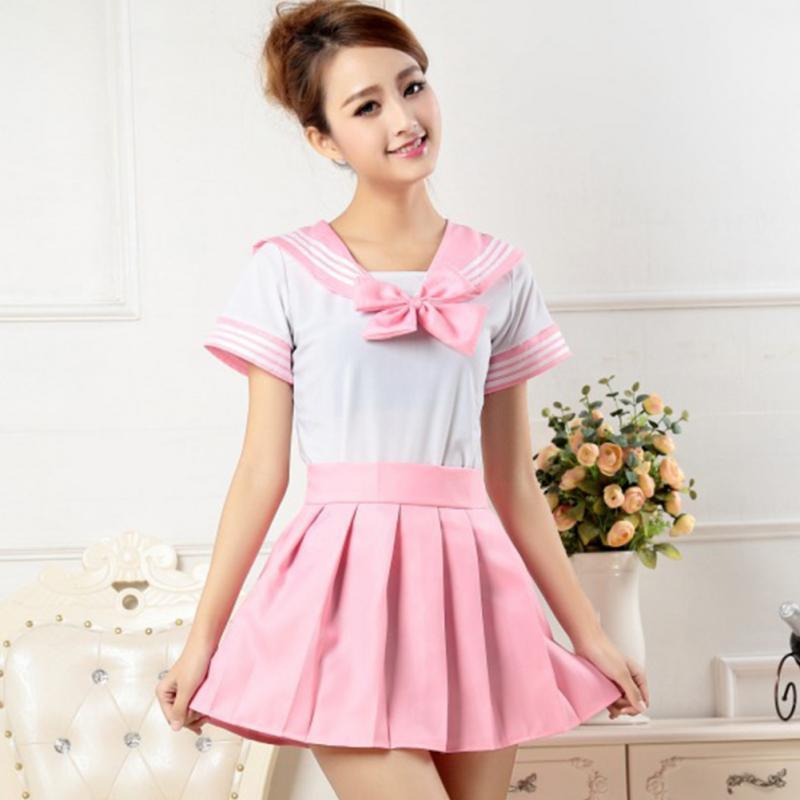 f4d9240365af Wholesale Japanese School Girl Uniform Dress T Shirt + Mini Skirt ...