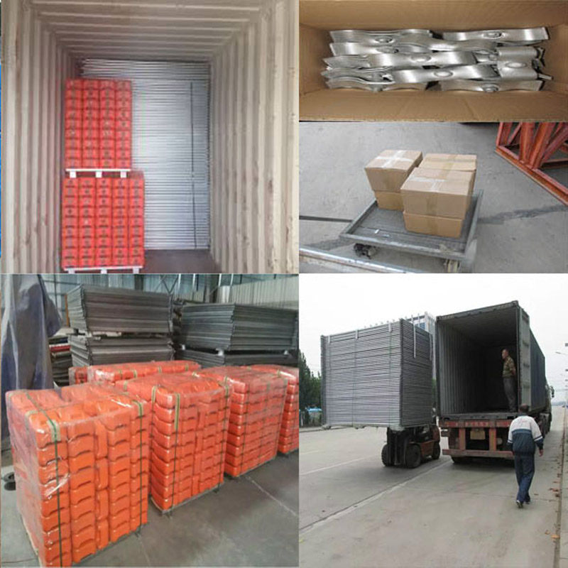 Hot Sale galvanized tubular used temporary fence panels for construction site or pool