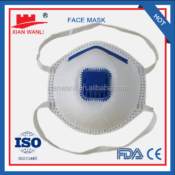 N95 face mask respirator without valve with CE,ISO,NELSON