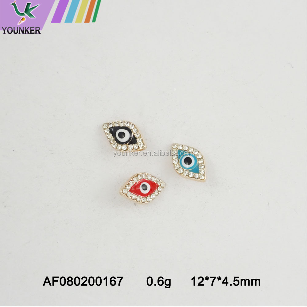 metal alloy custom enamel charms eye pendant charms  alloy Rhinestone Pendant for DIY jewelry making