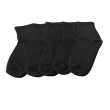5Pairs Good Quality Men Warm Comfortable Cotton Quarter Sport Athletic  Socks Black dc7091fa53