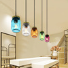 Restaurant ceiling modern minimalist glass pendant lamps creative dining room