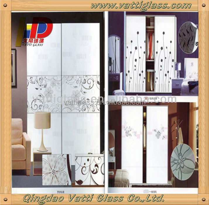 2017 Fashion Modern Decorative Glass Interior Stained Doors Sliding