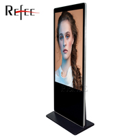 43/49/55 inch floor standing digital signage vertical display tv