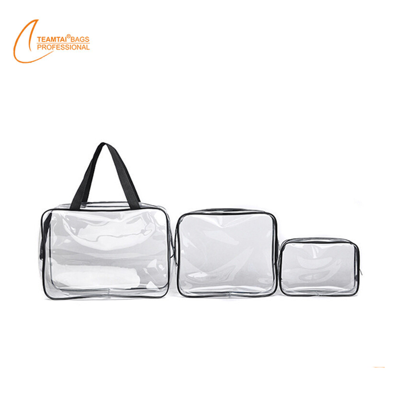 Hot sale travel organizer bags clear pvc packing cubes sets