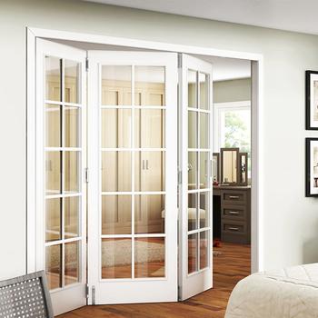Beau Customized Modern Design Tempered Glass Interior Glass Bifold Doors