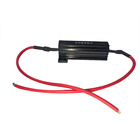 50W 8 ohm Car LED load Resistor Protector for LED lamp in Black color with resistor harness