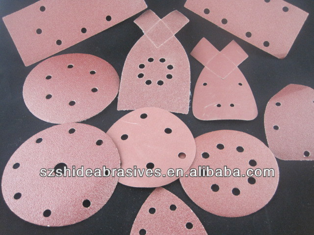 mouse sanding disc with velcro,107*165*165mm 8holes