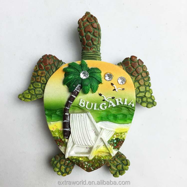 low price turtle souvenir bulgaria 3d fridge magnet factory