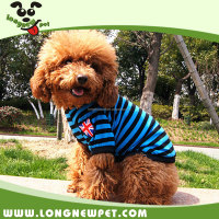 British Style Fashion Stripe Dog T Shirts Pet Apparel Clothes for Dog