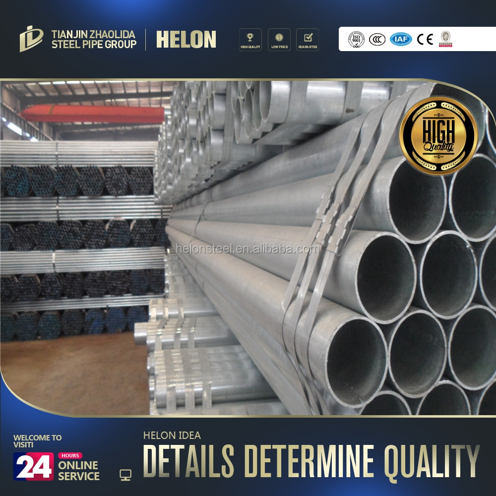 steel pipe storage rack Hot selling galvanized pipe weight per meter