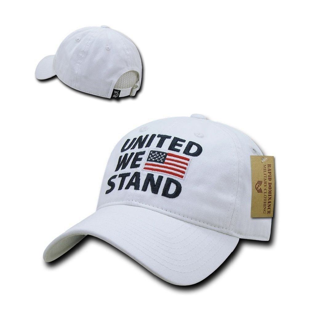 Get Quotations · United We Stand Patriotic American Pride Flag USA Cotton  Polo Baseball Hat Cap da106bf26bae
