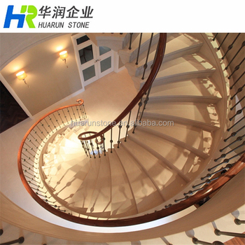 Lujo piedra caliza y m rmol construcci n escalera interior for Construccion de escaleras interiores
