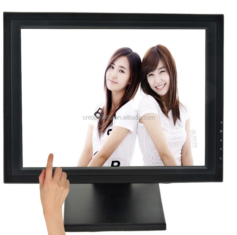 high brightness 1280x1024 vga dc 12v lcd 17 inch used touch screen monitor