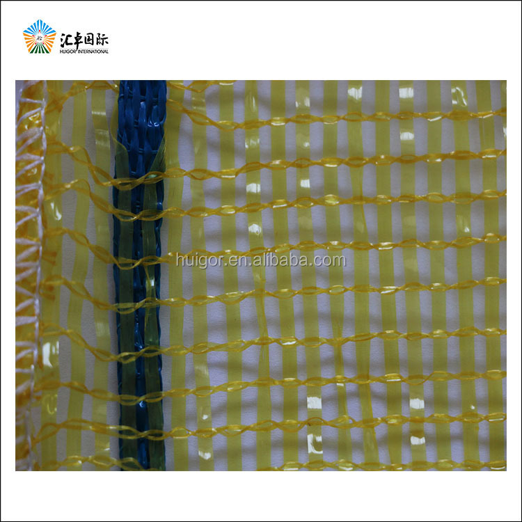 Agricultural packing tubular PP Mesh Bag with flat yarn in weft and warp