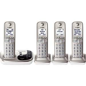 "Panasonic Kx. Tgd224n Dect 6.0 1.90 Ghz Cordless Phone . Champagne Gold . Cordless . 1 X Phone Line . 3 X Handset . Speakerphone . Answering Machine . Caller Id . Yes . Backlight ""Product Type: Phones/Analog & Digital Phones"""