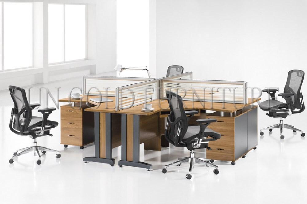 moderne hochwertige g nstigen preis custom gemacht oem b rotische 3 personen b ro workstation. Black Bedroom Furniture Sets. Home Design Ideas