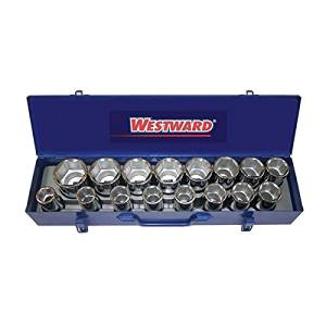(USA Warehouse) 42W521 Socket Set, SAE, 3/4 in. Drive, 16 pcs. -/PT# HF983-1754431311