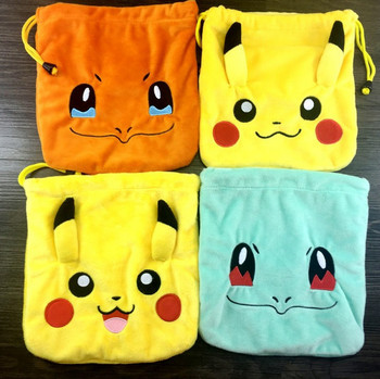 49b800b8030e Pokemon Go Sundries Bag Pikachu Organizer Plush Drawstring Bag - Buy ...