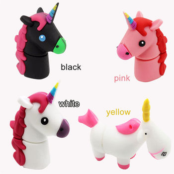 De dibujos animados Usb Flash Drive unicornio Pendrive Cle Usb 8 GB 16 GB 32 GB 64 GB