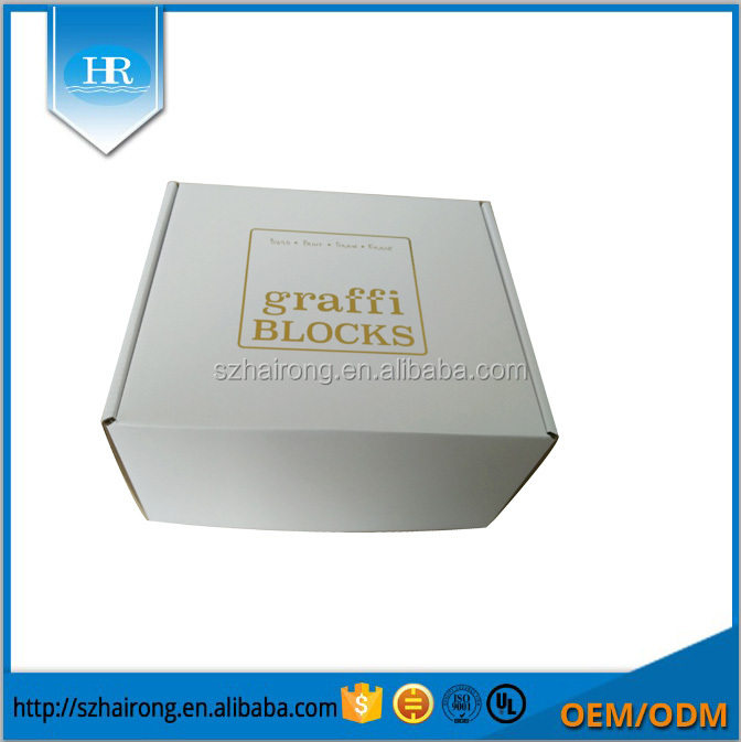 Ecofriendly flexo corrugated shipping packaging box with custom logo