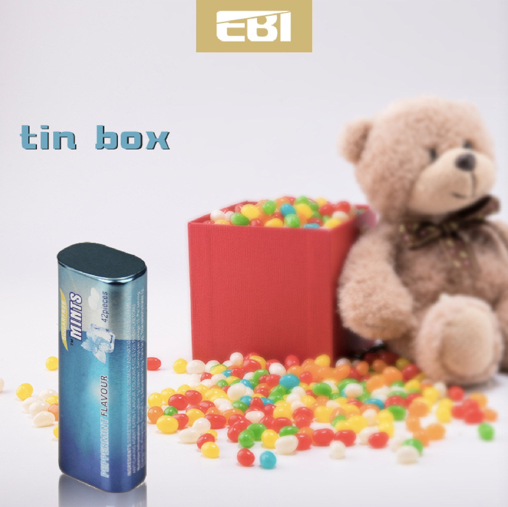 Personalizzato carosello tin toy box carte da gioco custom design tin box