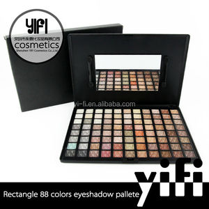 Private label/ World cup makeup fan eyeshadow/Free sample 88 color warm eyeshadow palette