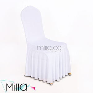 Wholesale White Spandex Wedding Banquet Hotel Chair Cover with Skirt
