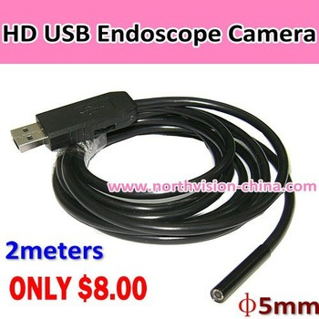 Super Small 5.5mm Head Waterproof Usb Wire Inspection Endoscope ...