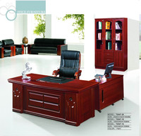 Nice design l-shaped office desk with hutch wooden computer table