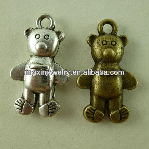 Wholesale Fashion Jewelry Pendants Bronze Bear Pendant Necklace 3D charms